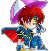 Chibi Roy with umbrella by Minaya