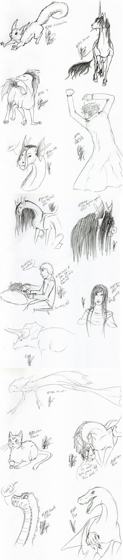 Sketchaday Dump 18 by Eiswolf-Zero