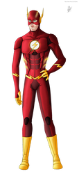 FA - Justice League - Flash - Arkham Suit by EiswolfZero