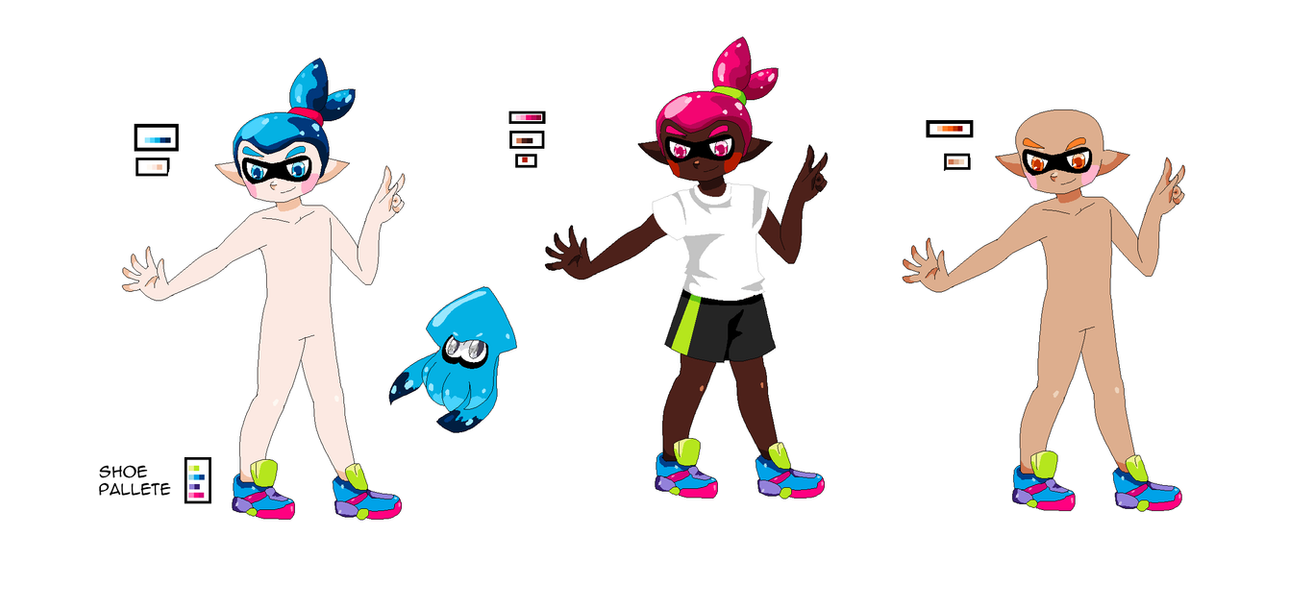 Splatoon! Male Inkling Base by Shiolily on DeviantArt