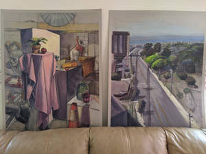 Giant Paintings From Class