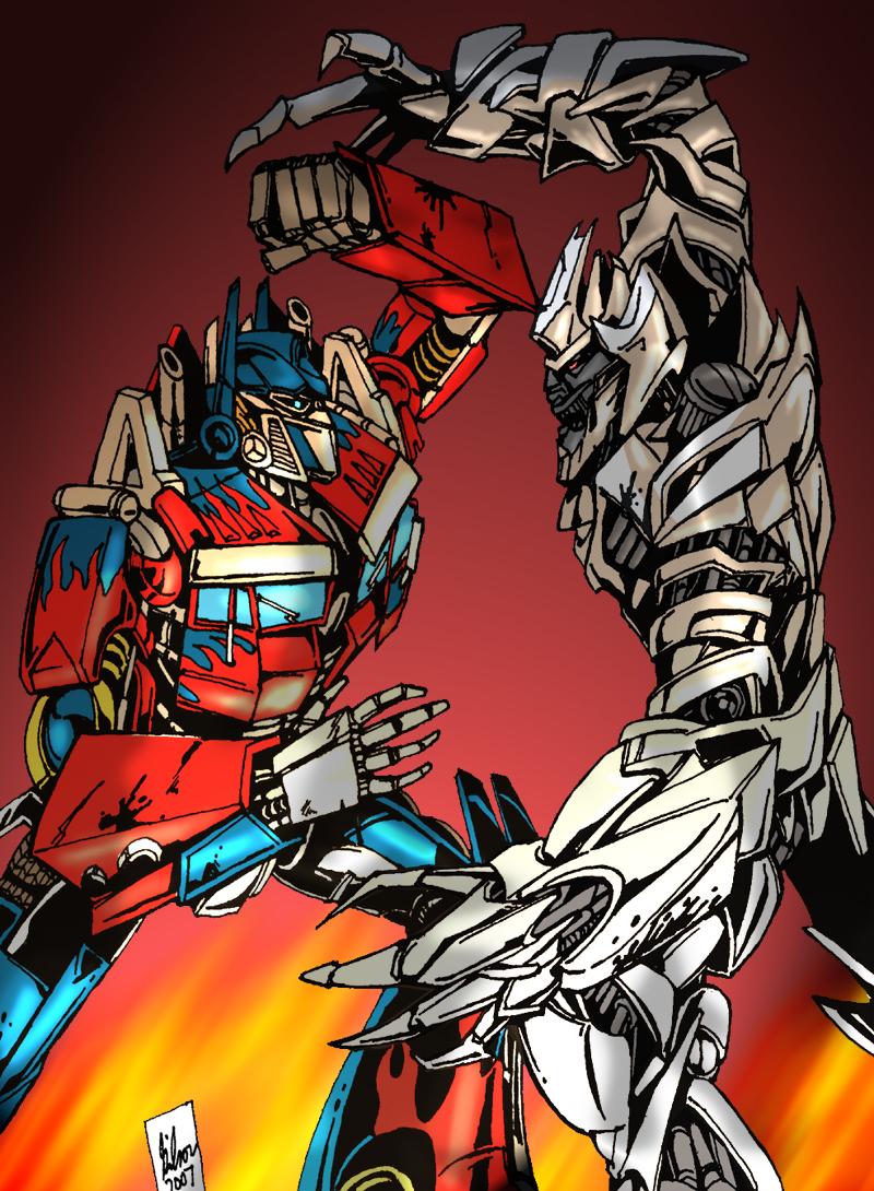 Movie optimus vs megatron by powermasterjazz on deviantart - Transformers cartoon optimus prime vs megatron ...