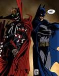Spawn vs Batman II by PowermasterJazz