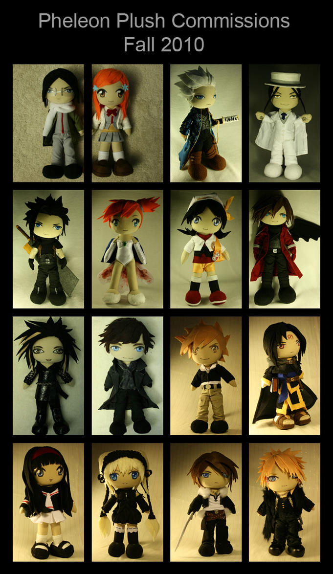 Plush Commissions Fall 2010 by pheleon