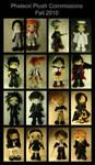 Plush Commissions Fall 2010