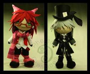 Grell and Undertaker in Wonderland