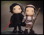 Rey and Kylo Ren: The Last Jedi