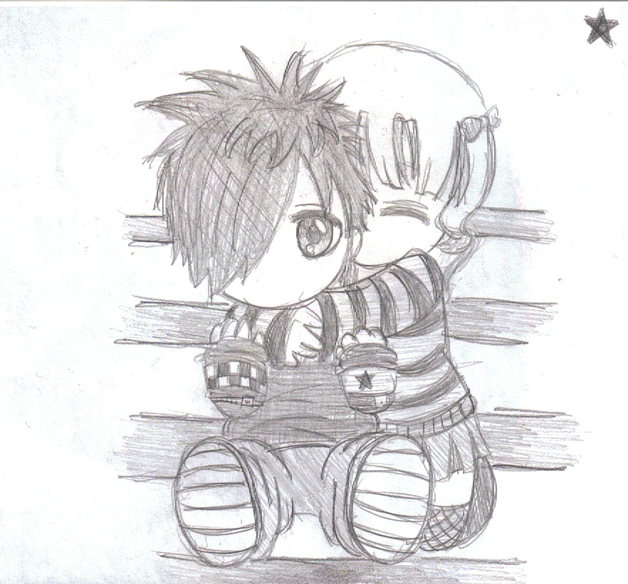 Emo love by blueblur66 on deviantart for Love drawing ideas