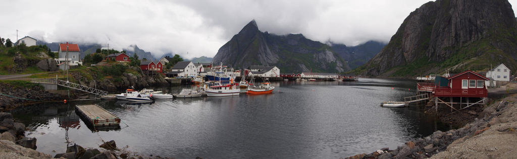 Panorama Norway Hamnoy by CeaSanddorn