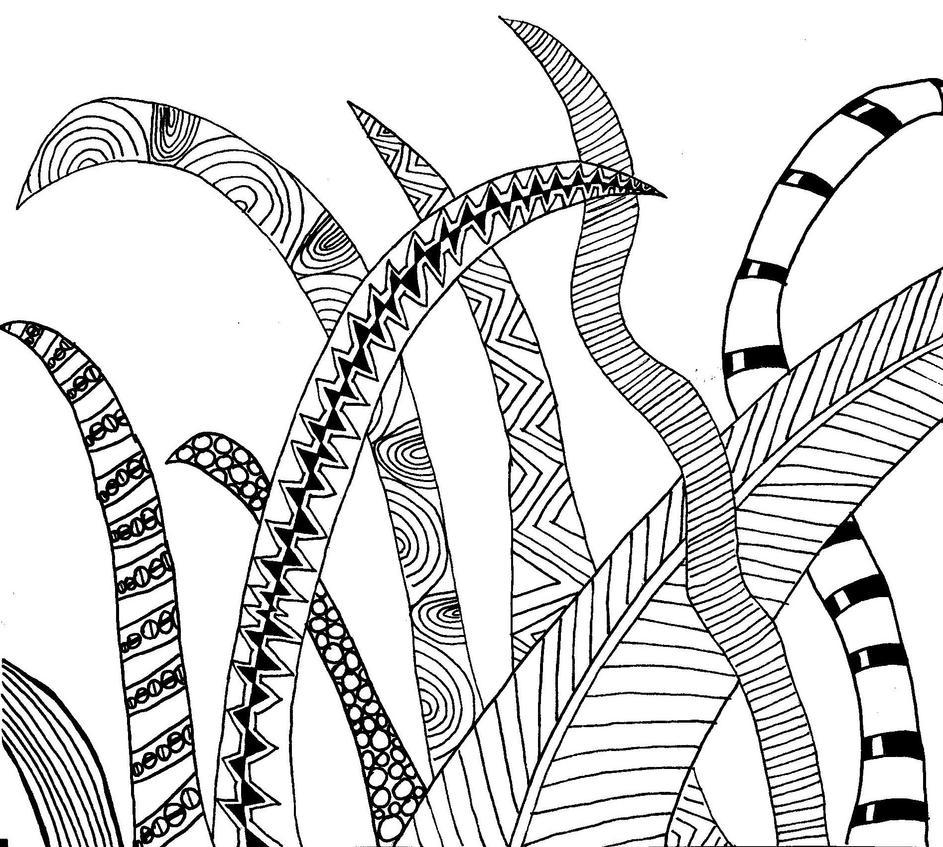 Zentangle 5/9 grass by CeaSanddorn