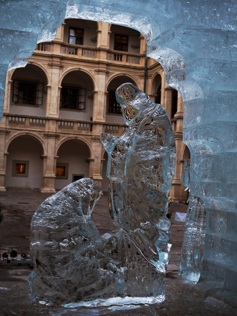 Christmas crib out of ice III by CeaSanddorn