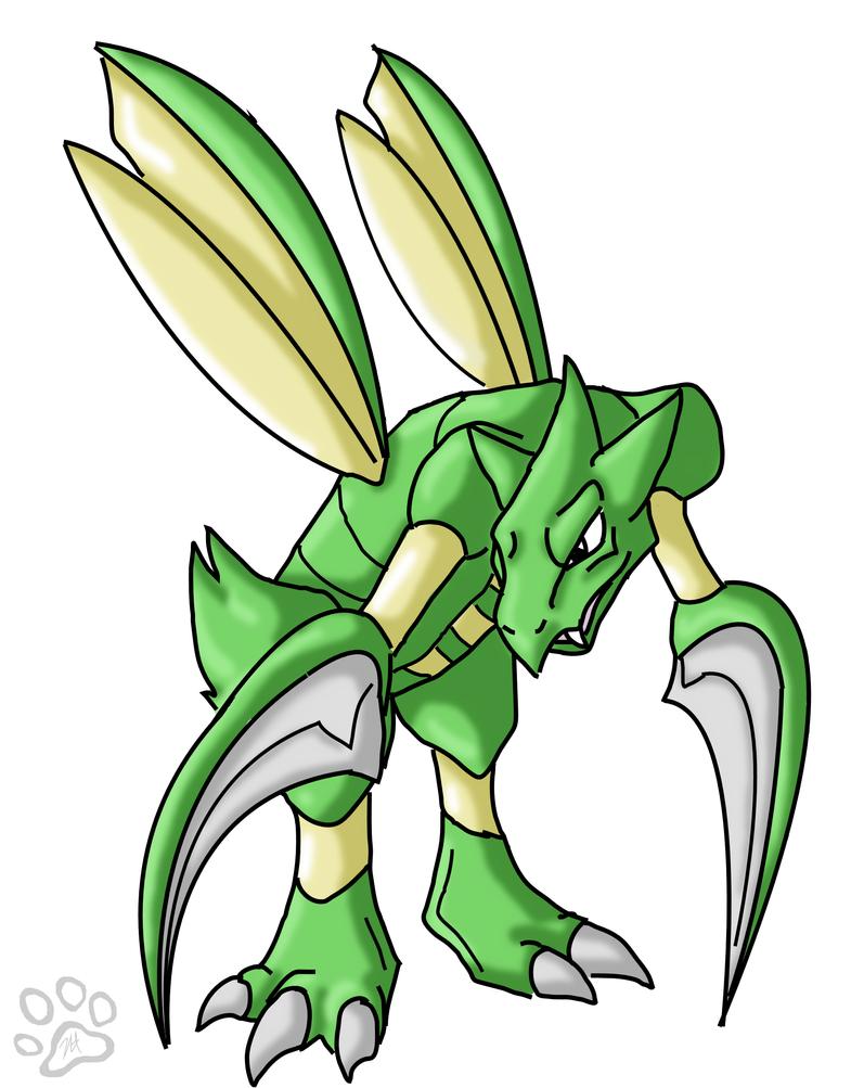 Pokemon Scyther...