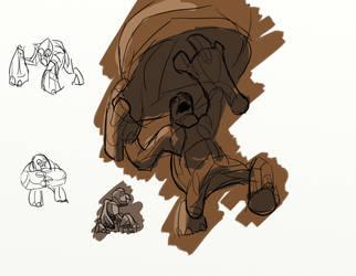 Rock Gorillas Posing by toasthaste