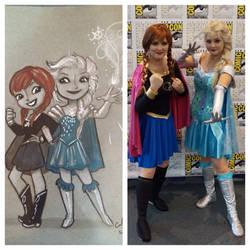 Super Hero Anna and Elsa
