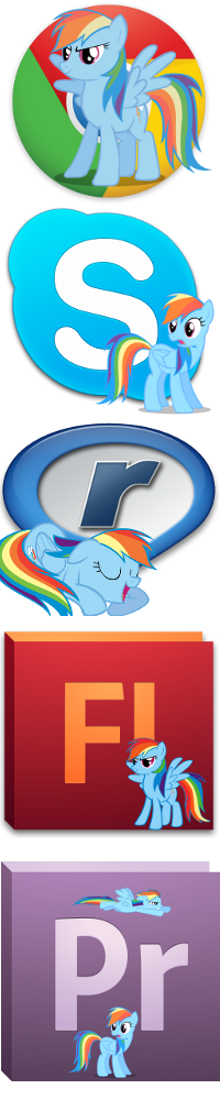 Pony icons1 by Dribmeg