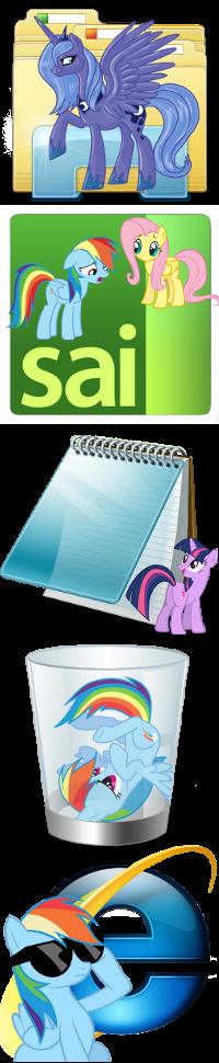 Pony icons5 by Dribmeg