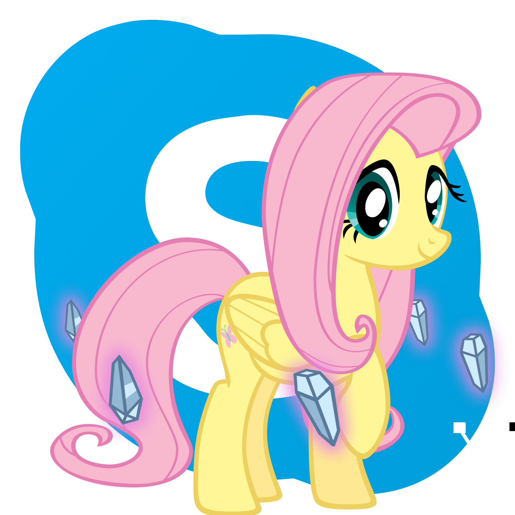 Fluttershy Skype icon by Pony4444
