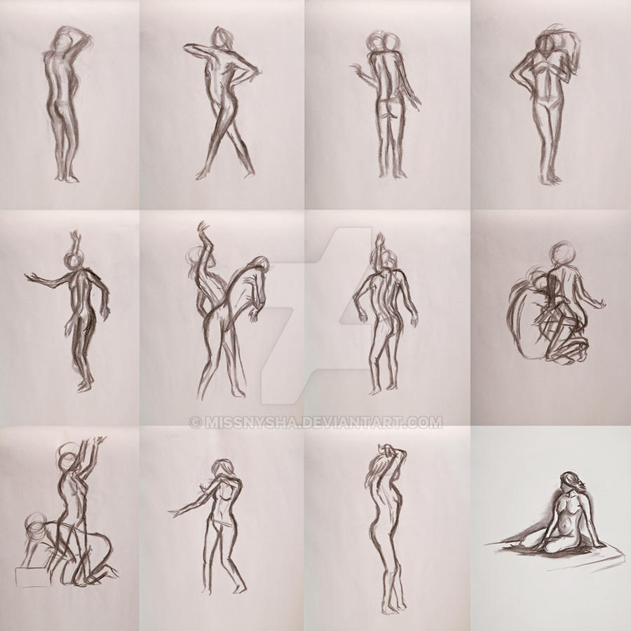 Figure and Gesture drawings by MissNysha