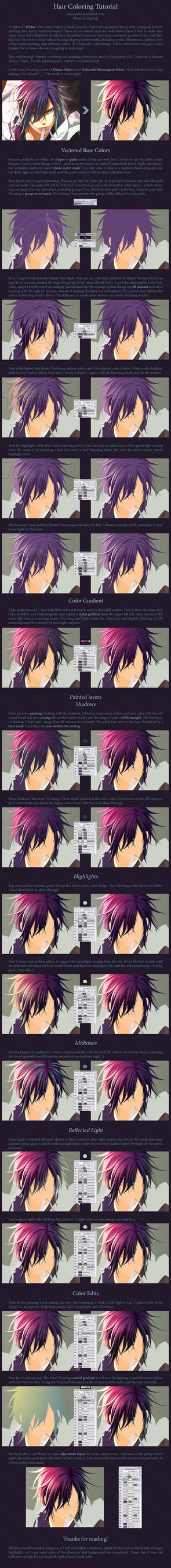 Hair Coloring Tutorial by MissNysha