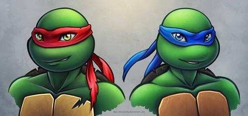TMNT2012: Raphael and Leonardo