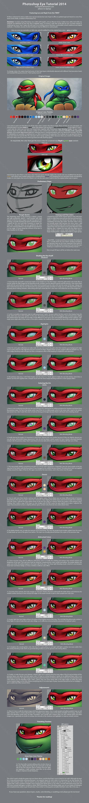 Photoshop Eye Tutorial 2014 by MissNysha