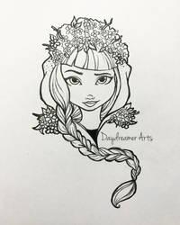 Spring Unsprung Cerise Hood by Daydreamer-Arts