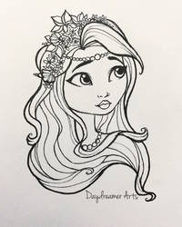 Spring Unsprung Meeshell Mermaid  by Daydreamer-Arts