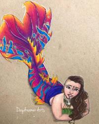 Tribal Sunset Siren by Daydreamer-Arts