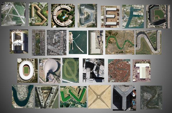 Google Earth Alphabet by Nelde
