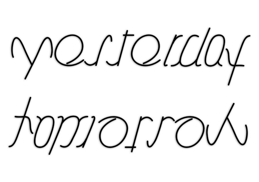 yesterday-tomorrow ambigram by Nelde