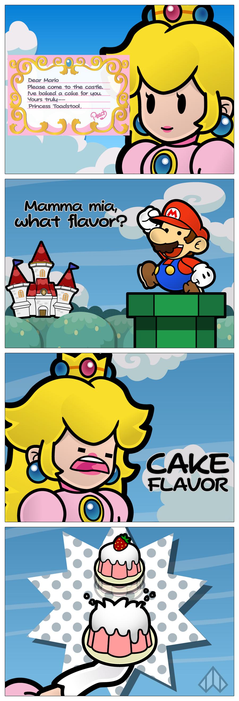 New Paper Mario: Cake Flavor by Nelde