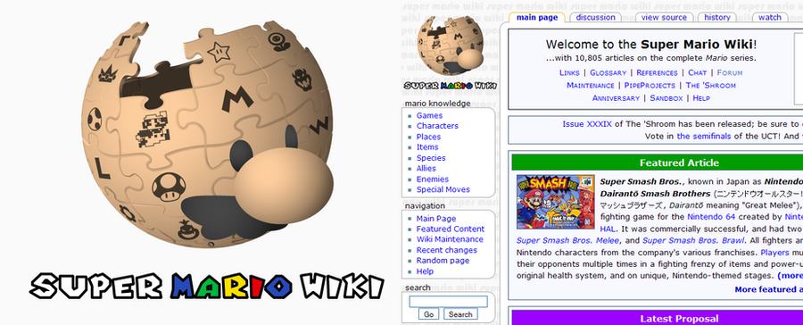 Mario Wiki Logo by Nelde