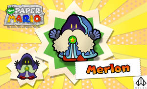 New Paper Mario: Merlon by Nelde