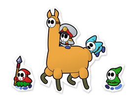Da Shy Llama by Nelde