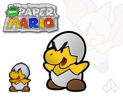 New Paper Mario: Jr. Troopa by Nelde