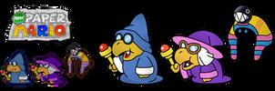 New Paper Mario: 3 Magikoopas by Nelde