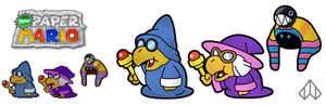 New Paper Mario: 3 Magikoopas