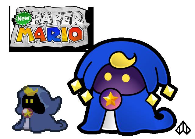 New Paper Mario: Merlow by Nelde