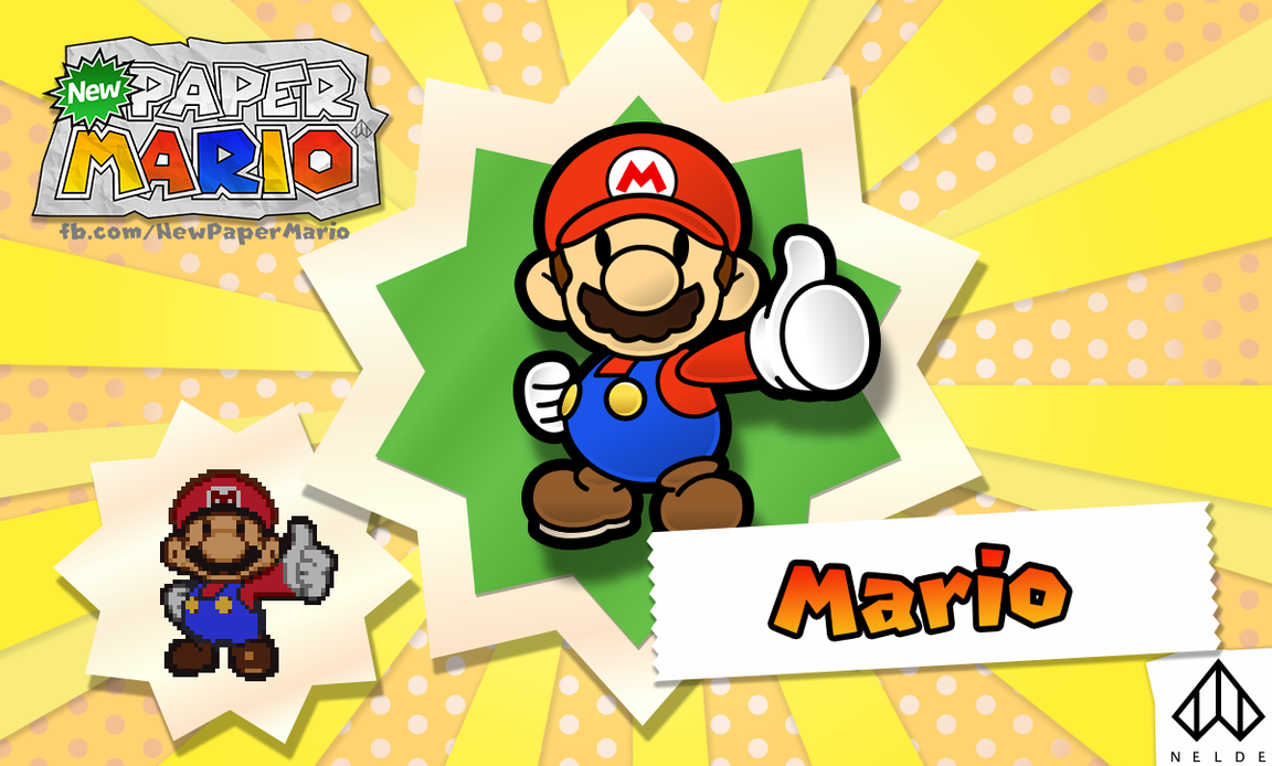 New Paper Mario: Mario by Nelde
