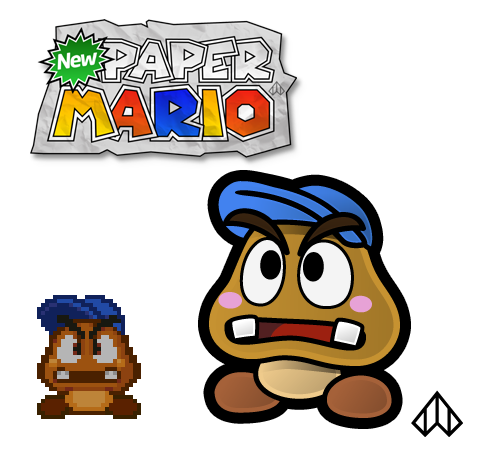 New Paper Mario: Goombario by Nelde