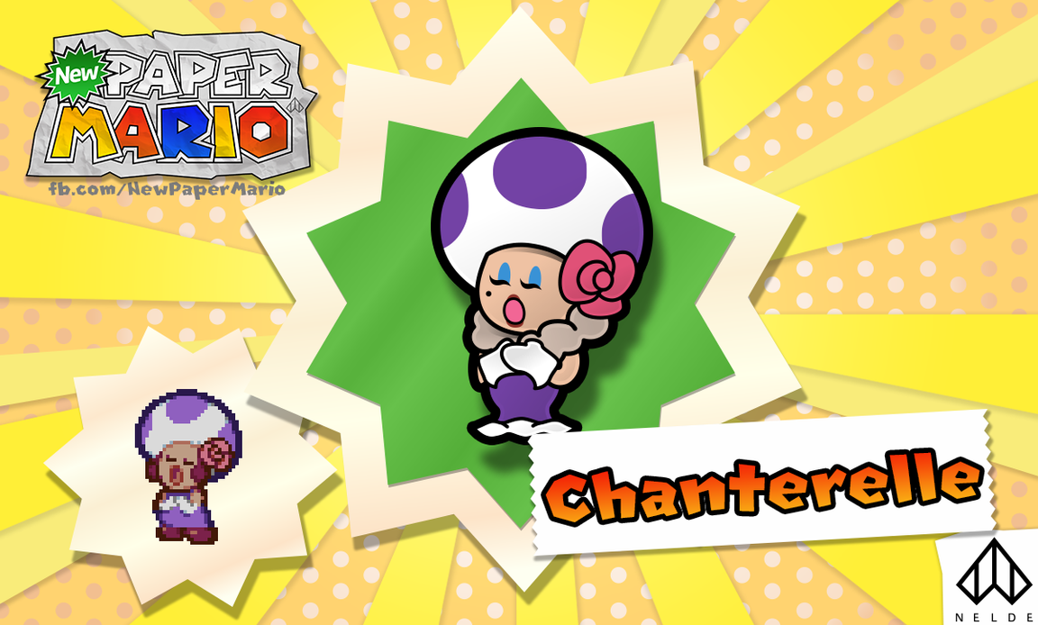 New Paper Mario: Chanterelle by Nelde