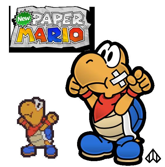 New Paper Mario: Kooper by Nelde