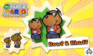 New Paper Mario: Rowf + Rhuff