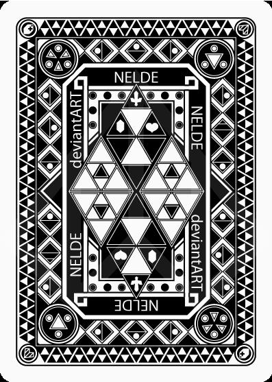 Zelda Poker Cards: the back side by Nelde
