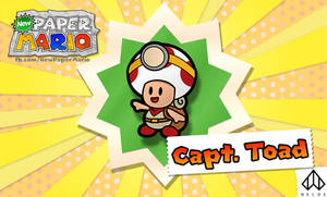 Captain Toad - Paper Mario Style