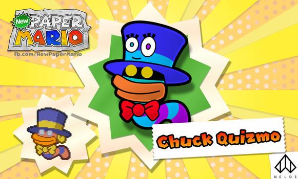 New Paper Mario: Chuck Quizmo by Nelde
