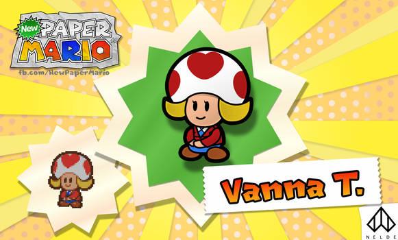 New Paper Mario: Vanna T. by Nelde