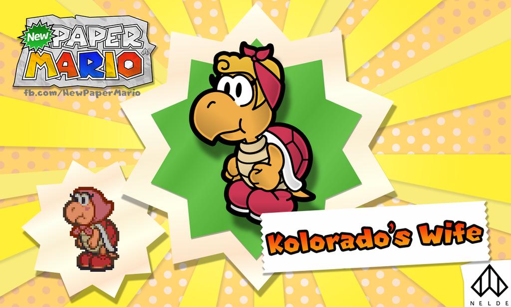New Paper Mario: Kolorado's Wife by Nelde