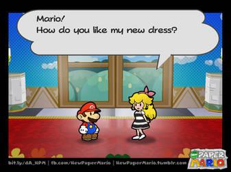Peach's new dress by Nelde