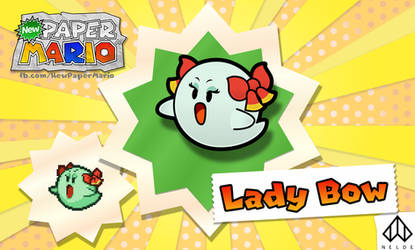 New Paper Mario: Lady Bow by Nelde